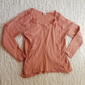 Clover + Scout blush pink long sleeve top …